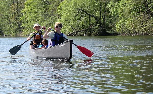 Familie Outdoor-Spirit beim Bootstest