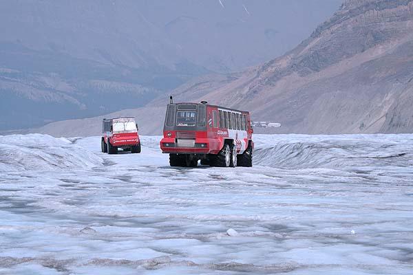 Im Bus auf den Gletscher