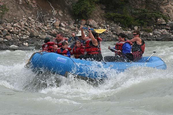 Rafting auf dem Athabasca River