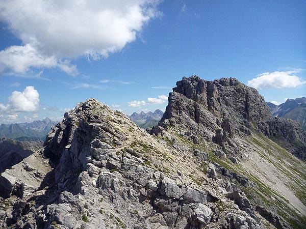 Blick zurück zum höchsten Schafalpenkopf
