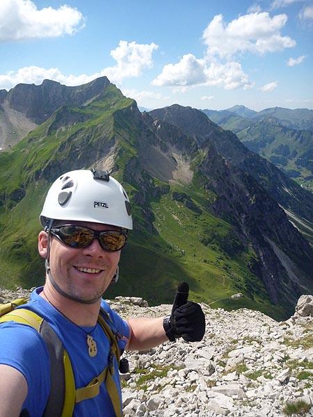 Geschafft - der Mindelheimer Klettersteig liegt hinter mir