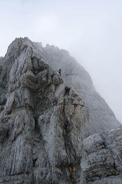Auf dem Weg zur Mittelspitze