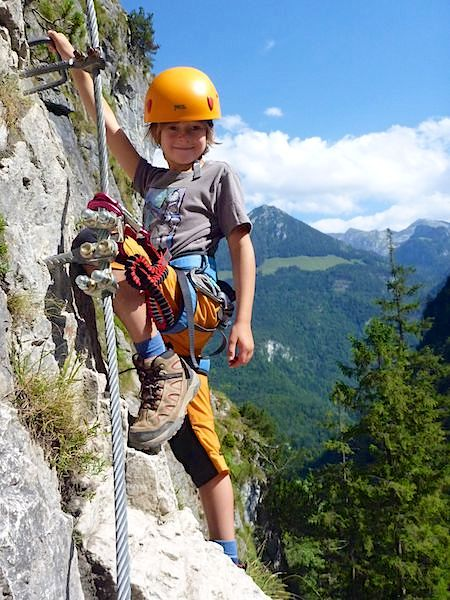 Mit dem Nachwuchs im Klettersteig