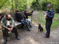 Rangerhund Anton steht auf Leberwurst