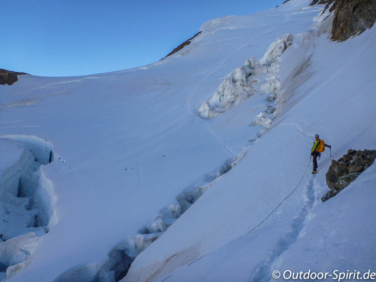 Übergang zum zweiten Gletscher