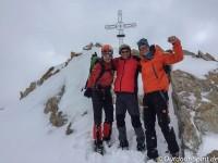 Burkhard, Dietmar und ich am Gipfelkreuz