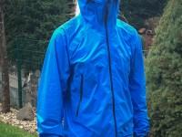 Minimalistische Regenjacke