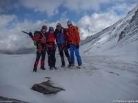 Burkhard, Christiane, Dietmar und René auf Hochtour