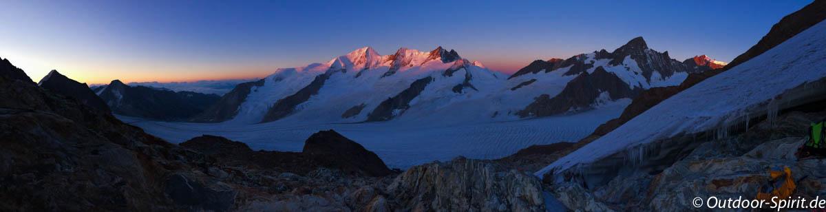 Das Gross Wannenhorn im Sonnenaufgang