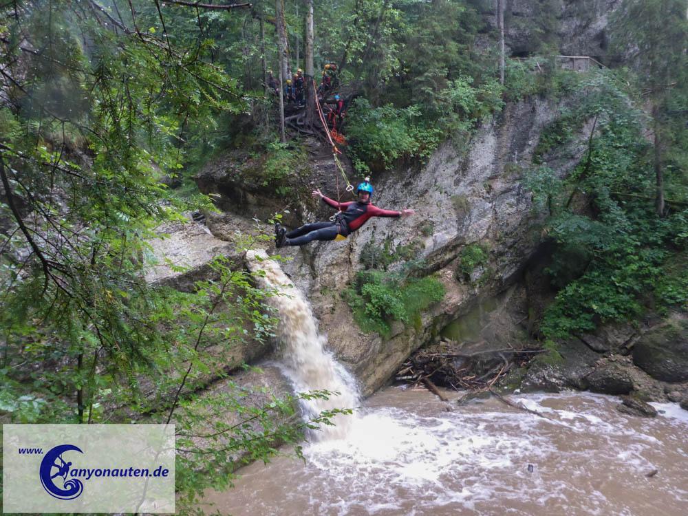 Die Seilrutsche (Foto: Canyonauten.de)