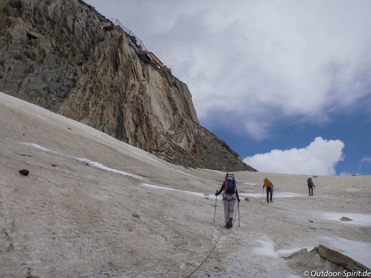 Kurz vor der Oberaarjochhütte (Foto: Burkhard Rose)