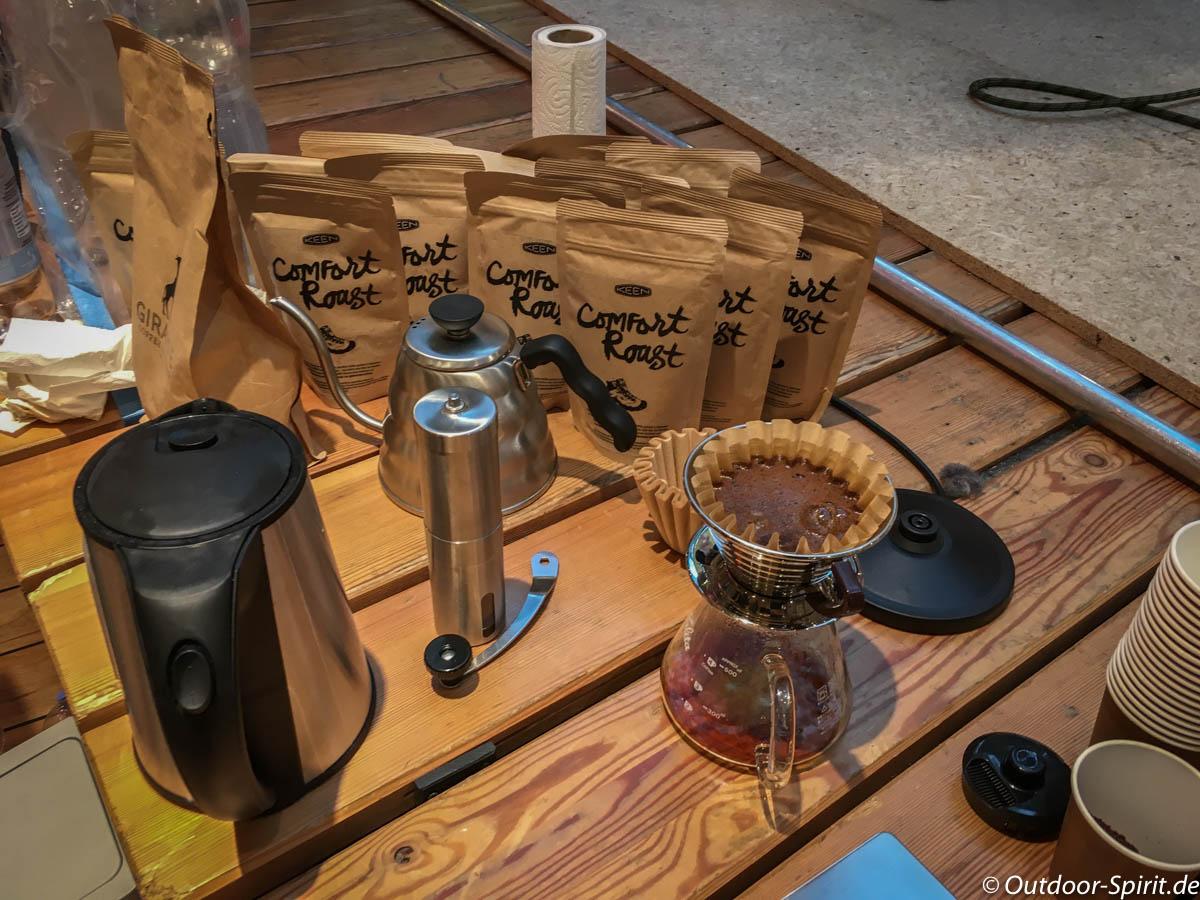 Frischer Kaffee bei Keen