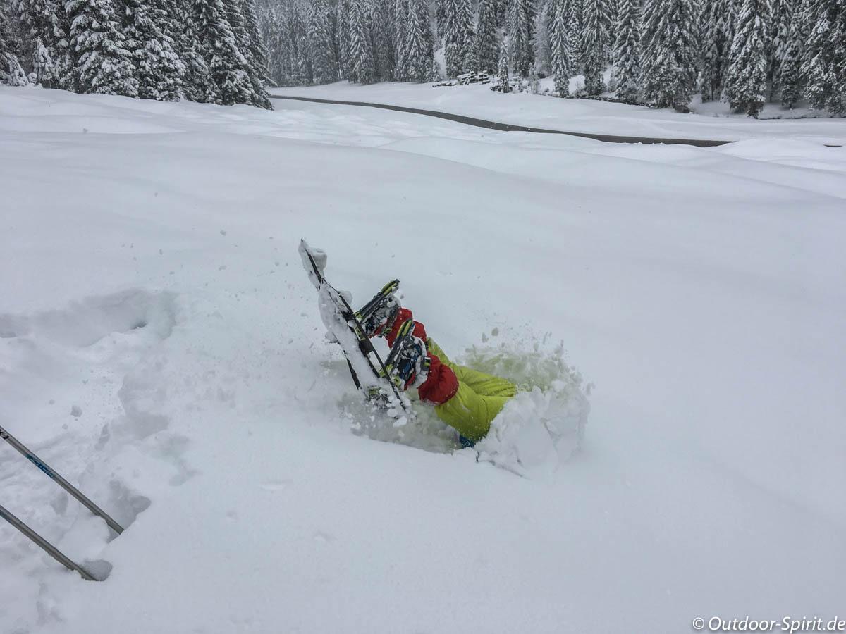 Schneeschuh-Frontflip