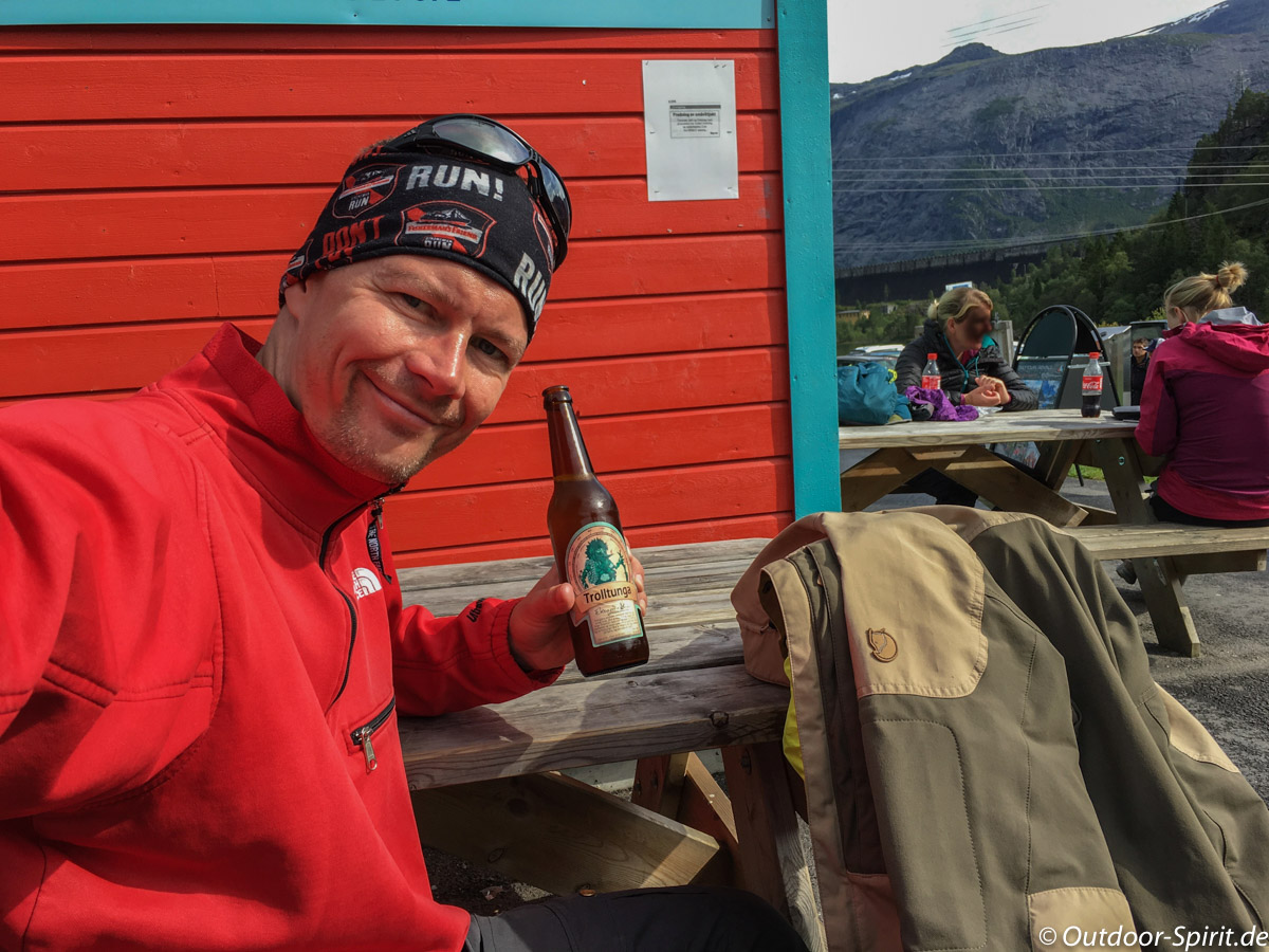 Das verdiente Trolltunga Bier