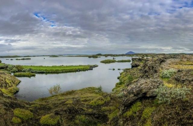 Morgendliche Laufrunde um den See Mývatn