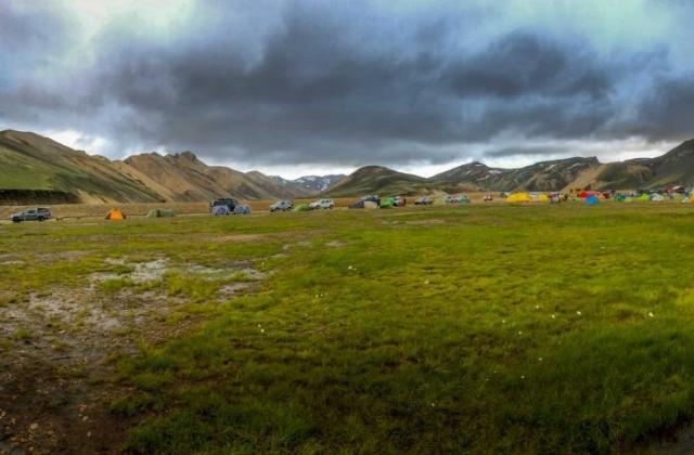 Campingplatz bei Landmannalaugar