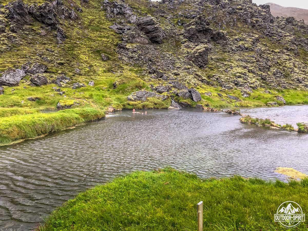 Hotpot beim Campingplatz in Landmannalaugar