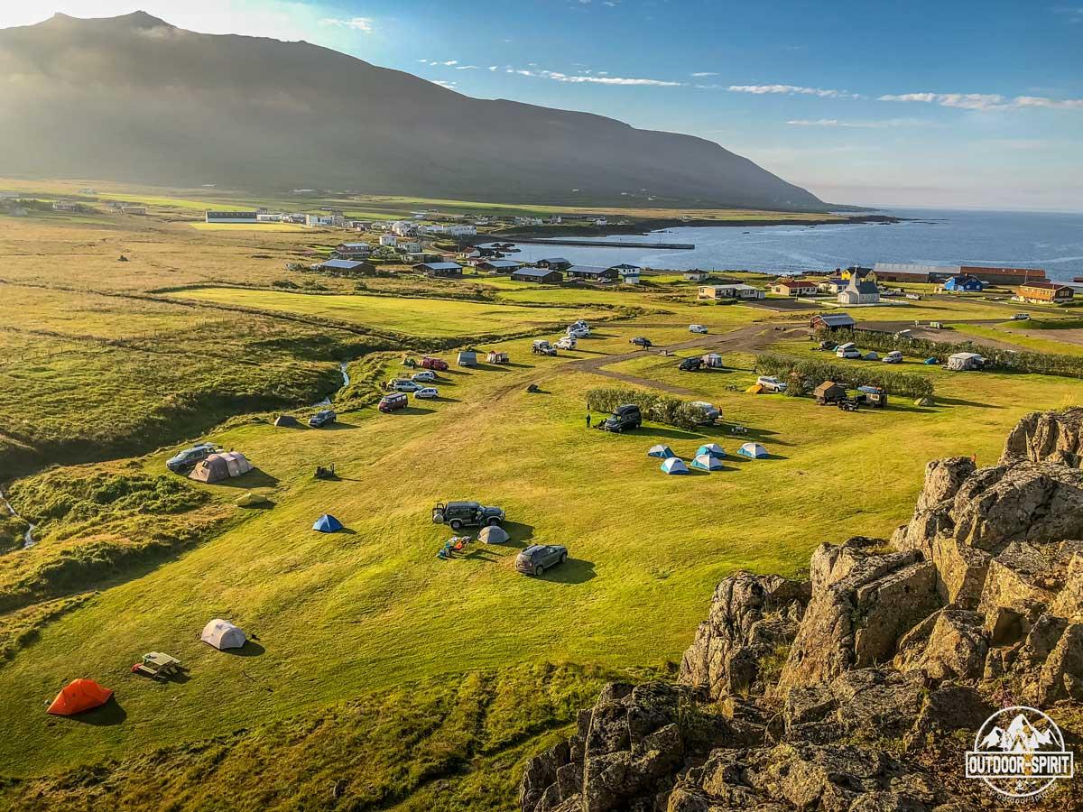 Campingplatz in Borgarfjörður